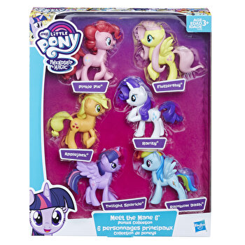 My Little Pony, Set figurine ponei Mane 6 de la My Little Pony