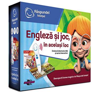 Pachet carte si creion – Engleza si joc, in acelasi loc de la Raspundel Istetel