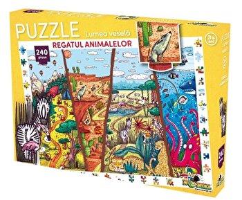 Puzzle Lumea vesela – Regatul animalelor, 240 piese de la Noriel