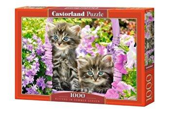 Puzzle Pisicute in Gradina, 1000 piese de la Castorland