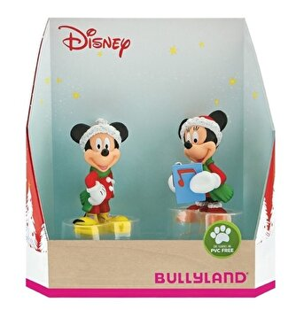 Set figurine Minnie si Mickey, Craciun de la Bullyland