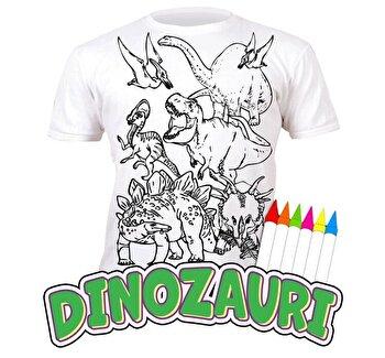 Tricou de colorat cu markere lavabile Dinozauri 7-8 ani de la Splat Planet