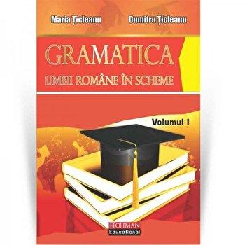 Gramatica limbii romane in scheme, volumul I/Maria Ticleanu, Dumitru Ticleanu de la Hoffman