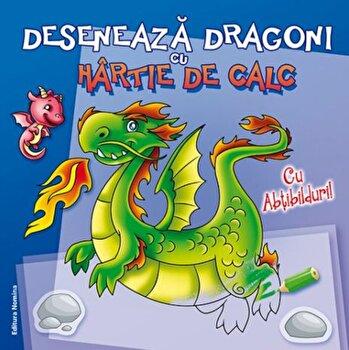Deseneaza dragoni cu hartie de calc/***
