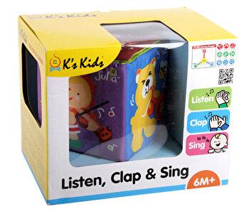 Jucarie Cub educativ – Asculta, aplauda & canta de la K's Kids
