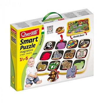 Quercetti Smart Puzzle - Joc memorie tip puzzle savana
