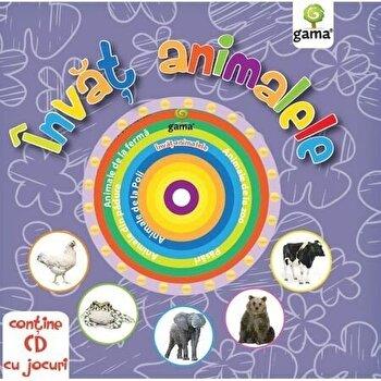 Invat animalele/ carti educative cu cd/*** de la Gama