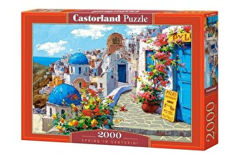 Puzzle Spring in Santorini, 2000 piese de la Castorland