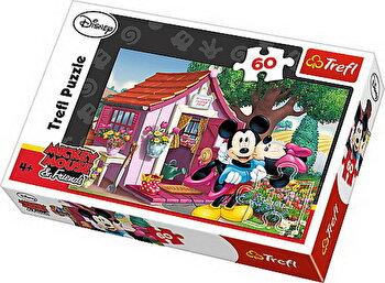 Puzzle Mickey si Minnie in gradina, 60 piese de la Trefl