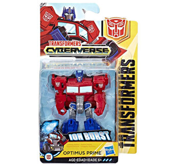 Transformers – Figurina Cyberverse Optimus Prime Ion Burst de la Transformers