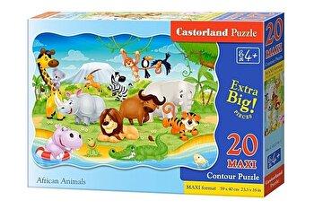 Puzzle maxi Animale din Africa, 20 piese de la Castorland
