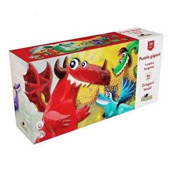 Puzzle Gigant – Dragoni veseli, 30 piese de la Noriel