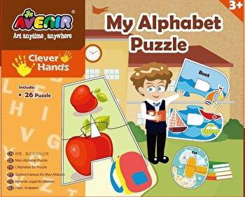 Set 26 puzzle-uri – Alfabet, 52 piese de la Momki
