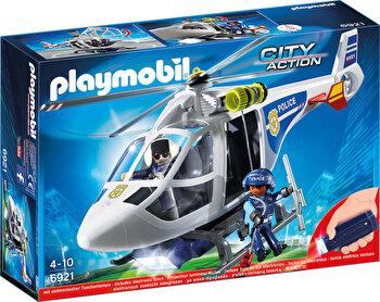 Playmobil City Action, Elicopter de politie cu led de la Playmobil