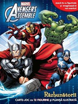 Avengers assemble. Razbunatorii. Carte joc cu 12 figurine si plansa ilustrata/*** de la Litera
