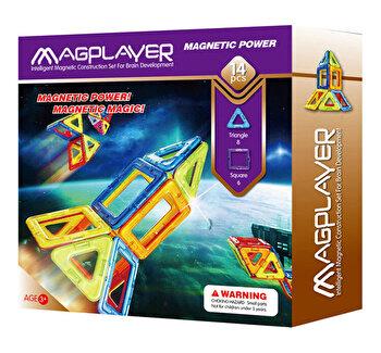 Joc de constructie magnetic – 14 piese de la Magplayer