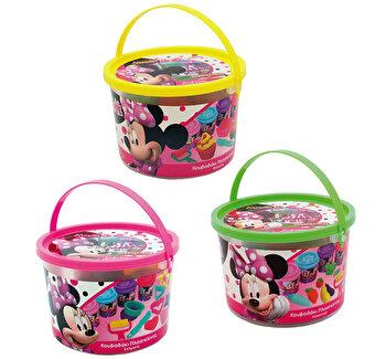 Galetusa cu 4 borcanase plastilina si ustensile - Minnie Mouse