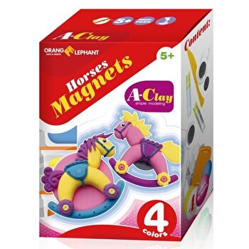 Set creatie modelaj, Horses Magnets