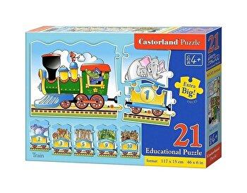 Puzzle educativ Tren, 21 piese