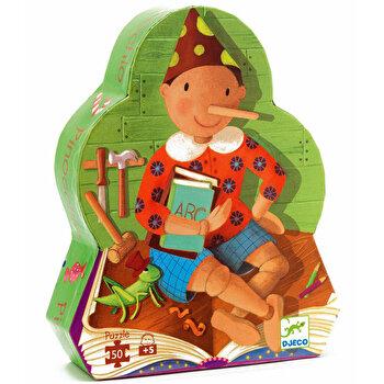 Puzzle silueta – Pinocchio, 50 piese de la Djeco