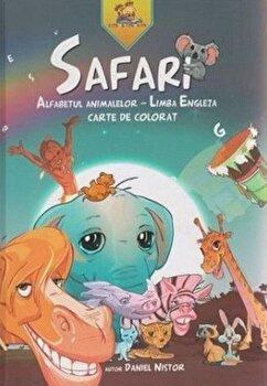 Safari. Alfabetul animalelor – Limba Engleza. Carte de colorat (editie de lux)/Daniel Nistor de la Lizuka Educativ
