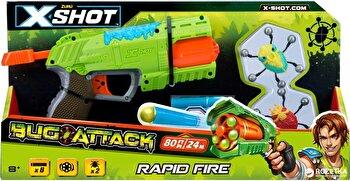 Pistol X-Shot Bugs Attack Blaster cu tragere rapida, 2 insecte si 8 sageti de la X-Shot