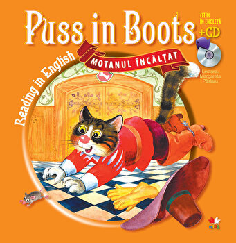 Puss in Boots (Motanul incaltat) – Carte + CD/*** de la Litera