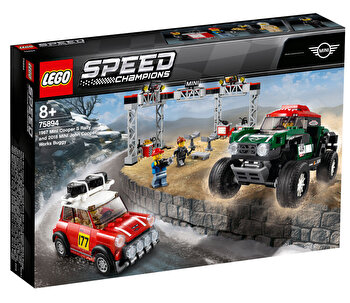 LEGO Speed Champions, 1967 Mini Cooper S Rally si automobil sport 2018 MINI John Cooper Works 75894 de la LEGO