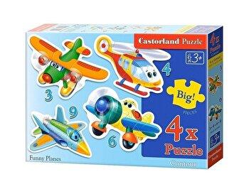 Puzzle 4 in 1 – Avioane, 22 piese de la Castorland