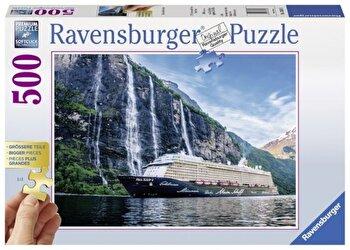 Puzzle Vapor pe insula, 500 piese de la Ravensburger