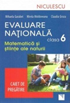 Evaluare Nationala clasa a VI-a. Matematica si Stiinte ale naturii. Caiet de pregatire/Mihaela Garabet, Mirela Moldoveanu de la Niculescu