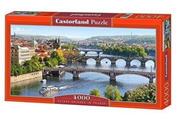 Puzzle Pod peste Vltava – Praga, 4000 piese de la Castorland
