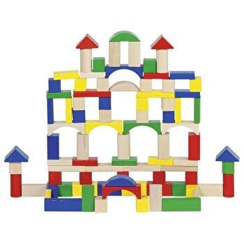 Set constructie 100 cuburi lemn de la Goki