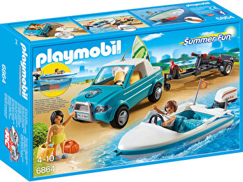 Playmobil Summer Fun, Barca de viteza cu surfer de la Playmobil