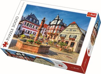 Puzzle Piata Heppenheim, 3000 piese de la Trefl