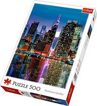 Puzzle Luna plina in Manhattan, 500 piese de la Trefl
