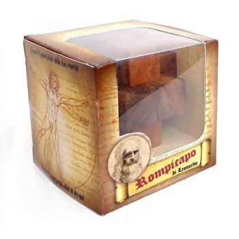 Puzzle din lemn Nailed Cube – Leonardo da Vinci de la Logica Giochi