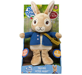 Jucarie vorbitoare din plus Peter Rabbit, 24 cm de la Rainbow Design