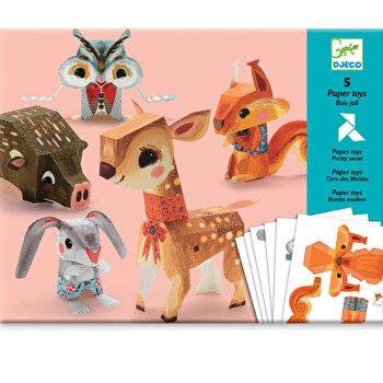 Kit origami – Animale din padure de la Djeco