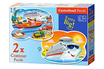 Puzzle 2 in 1 – Aventuri pe mare, 24 piese de la Castorland