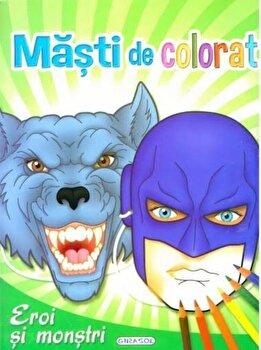 Masti de colorat – Eroi si monstri/*** de la Girasol
