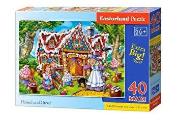 Puzzle maxi Hansel and Gretel, 40 piese de la Castorland