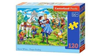 Puzzle Alba ca Zapada - Sfarsit Fericit, 120 piese