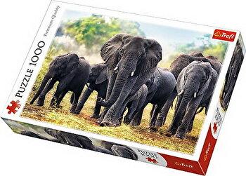 Puzzle Elefanti Africani, 1000 piese de la Trefl