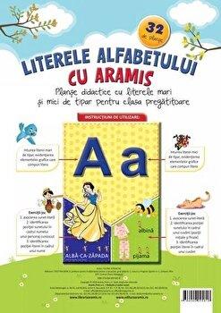 Literele alfabetului cu Aramis – 32 de planse/Celina Iordache de la Aramis