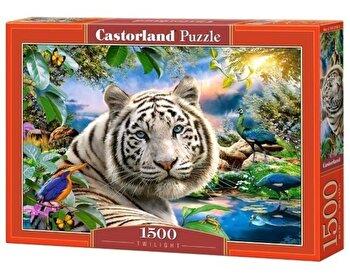 Puzzle Tigru la apus, 1500 piese de la Castorland