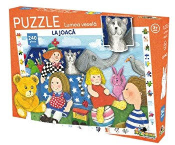 Puzzle Lumea vesela – La joaca, 240 piese de la Noriel