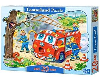 Puzzle maxi Brigada de pompieri, 20 piese de la Castorland