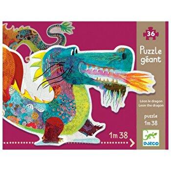 Puzzle gigant – Leul dragon, 58 piese de la Djeco