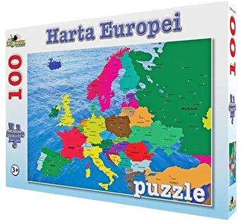 Puzzle Harta Europei, 100 piese de la Noriel